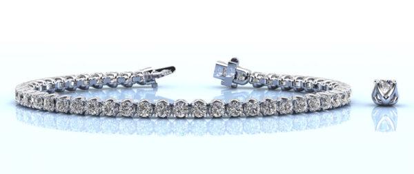 Fiery Flame Diamond Tennis Bracelet