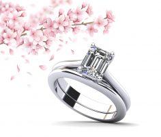 Emerald Cut Diamond Bridal Set
