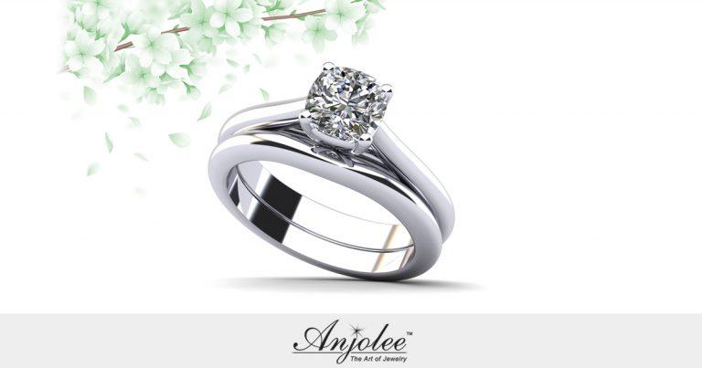 Elegant Round Solitaire Bridal Set