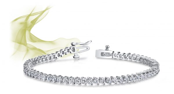 2 Prong Set Round Diamond Tennis Bracelet
