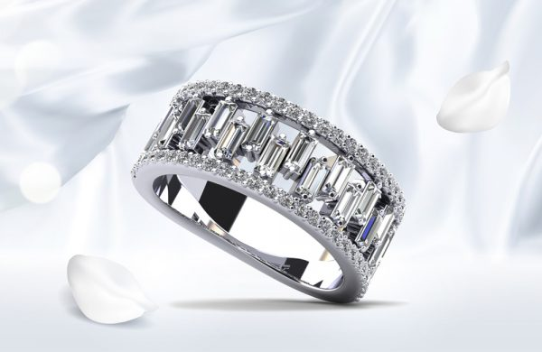 Stepping Stone Baguette Diamond Ring