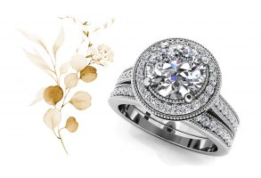 Luxe Diamond Vintage Style Bridal Set
