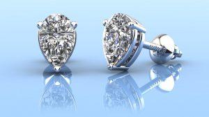 Radiant Romance Pear Shaped Stud Earrings